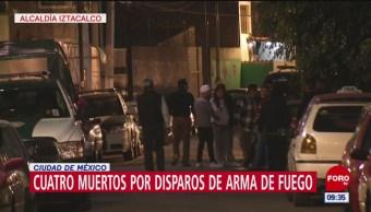 Cuatro muertos por disparos de arma de fuego