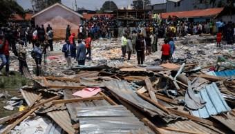 Derrumbe de escuela en Nairobi.