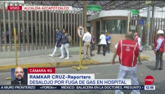 Desalojan hospital en Azcapotzalco, CDMX, por fuga de gas