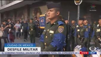 FOTO: Desfile militar del 16 de septiembre abarca 8 kilómetros en CDMX, 16 septiembre 2019
