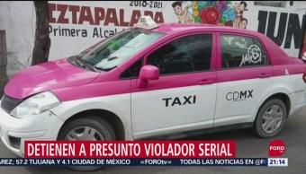 FOTO: Detienen a presunto taxista violador serial en Iztapalapa, 13 SEPTIEMBRE 2019