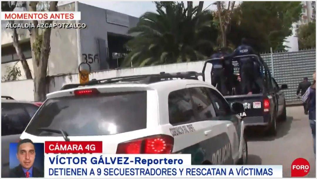 Foto: Detienen a nueve presuntos secuestradores en la alcaldía Tláhuac, 22 de septiembre de 2019 (Foro TV)