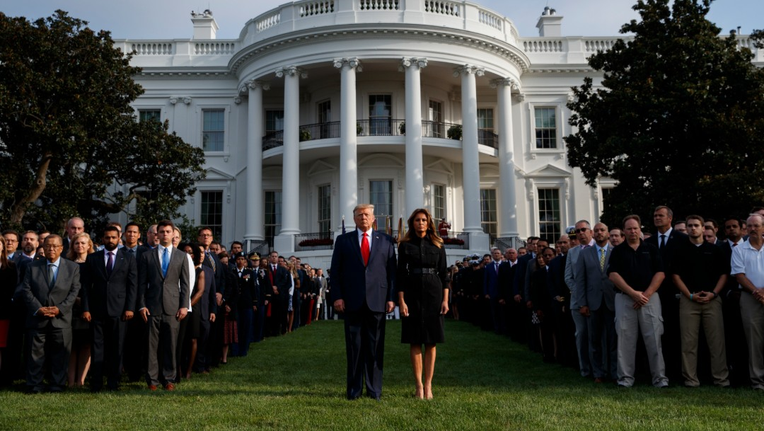 Foto: Donald y Melania Trump, 11 de septiembre de 2019, Estados Unidos