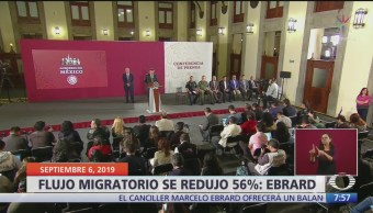 Ebrard hace un balance de las medidas contra el flujo migratorio