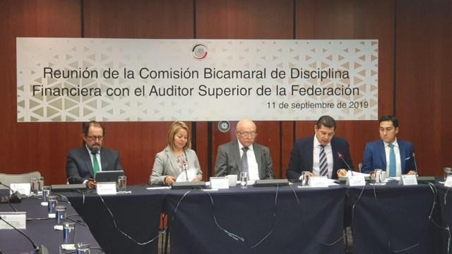 Foto: David Colmenares en la Comisión de Hacienda, 11 de septiembre de 2019 (Twitter @ASF_Mexico)