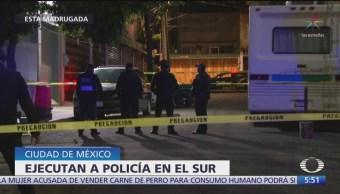 Ejecutan a policía al sur de la Ciudad de México