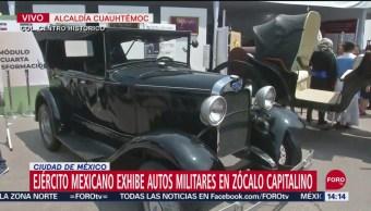 FOTO: Ejército exhibe autos militares en el Zócalo, 16 septiembre 2019