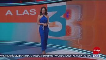 FOTO: Clima A Las Tres Con Daniela Álvarez 5 Septiembre 2019,