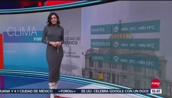 FOTO: Clima Con Daniela Álvarez 23 Septiembre 2019