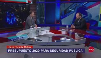 Foto: Presupuesto Combate Inseguridad Presupuesto 2020 10 Septiembre 2019
