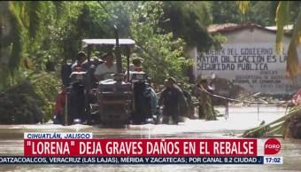 Foto: Rebalse Jalisco Incomunicado Desbordamiento Río Marabasco 21 Septiembre 2019