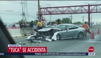 Foto: El Tuca Ferreti Sufre Aparatoso Choque, 21 de septiembre de 2019