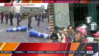 FOTO: Elementos SSC Buscan Diálogo Con Anarquistas