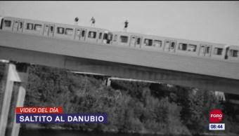 #ElVideodelDía: Saltito al Danubio