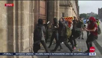 FOTO: Encapuchados Realizan Pintas Palacio Nacional