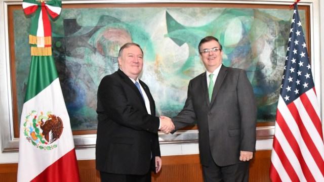 Foto: Reunión entre el canciller Marcelo Ebrard y el secretario de Estado de EU, Mike Pompeo, 6 septiembre 2019
