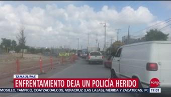 FOTO: Enfrentamiento entre policías y sujetos armados en Tamaulipas, 14 septiembre 2019