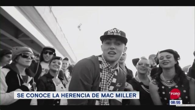 #EspectáculosenExpreso: Se conoce la herencia de Mac Miller