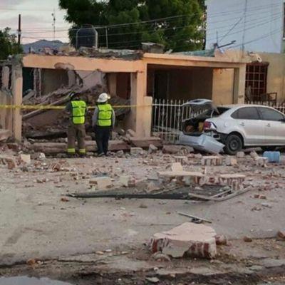 Explosión por acumulación de gas en vivienda de Hermosillo deja dos muertos