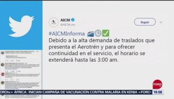 FOTO: Extienden horario de Aerotrén del AICM, 13 SEPTIEMBRE 2019