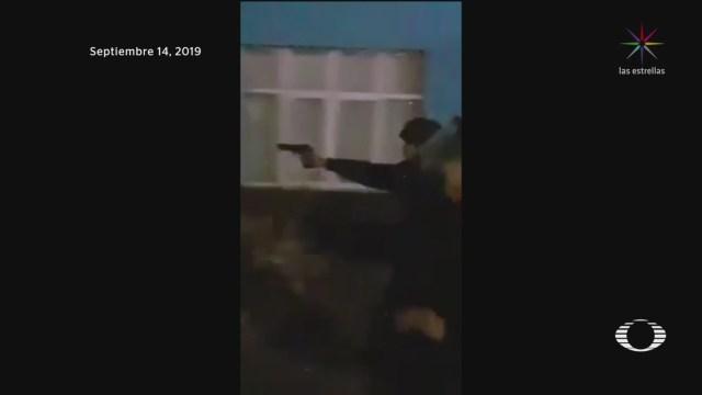 FOTO: Falla operativo para desalojar a manifestantes en Villa de Zaragoza, SLP, 16 septiembre 2019