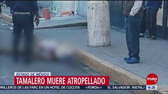 FOTO:Fallece tamalero tras ser atropellado en La Paz, Estado de México, 8 septiembre 2019