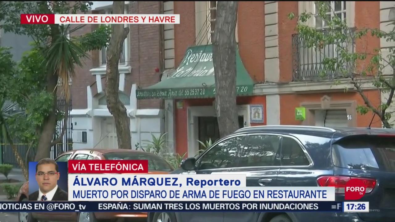 FOTO: Fallece una persona tras balacera en restaurante de la Juárez, 14 septiembre 2019
