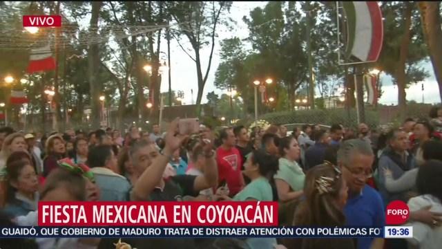 FOTO: Festejos por Grito de Independencia en alcaldía Coyoacán, 15 Septiembre 2019