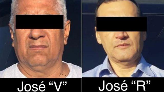 """Foto: José """"R"""" y José """"V"""" fueron arrestados en Matehuala, San Luis Potosí. FGR"""