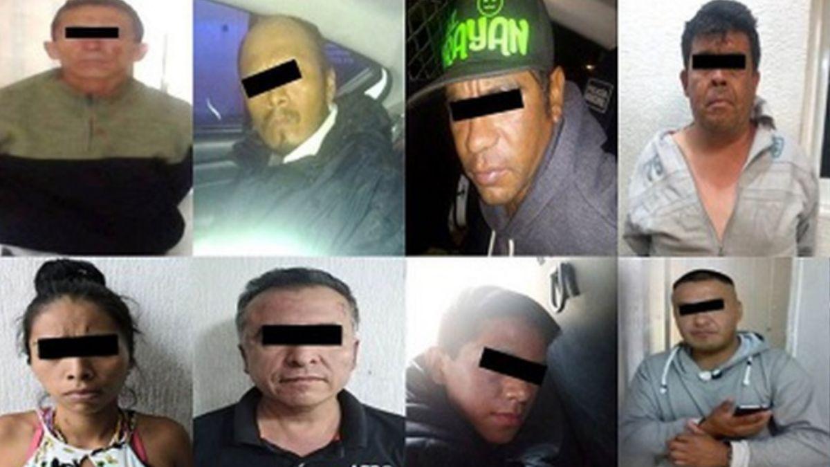 """Foto: Persona detenidas durante el """"Operativo Usuario"""" en Tlalnepantla, Estado de México. Facebook/CGSP"""