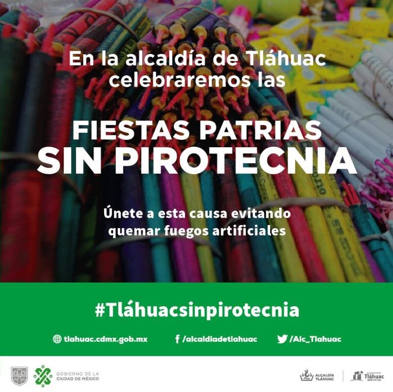 Foto: Cancelan pirotecnia en la alcaldía de Tláhuac, Ciudad de México. Twitter/@Alc_Tlahuac