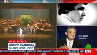 FOTO: Grupo Pandora recibió consejos del cantante José José, 28 septiembre 2019