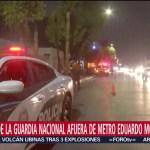 Foto: Guardia Nacional Recorre Inmediaciones Metro Eduardo Molina 4 Septiembre 2019