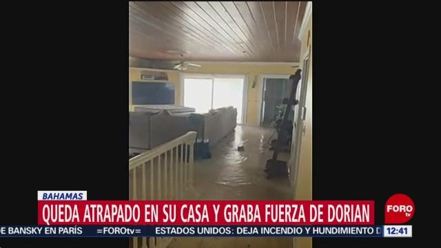 """Habitante de Bahamas graba inundación por """"Dorian"""" en su casa"""