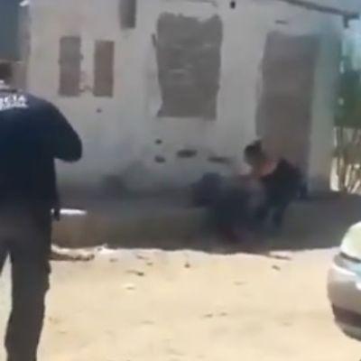Policía mata a hombre que lo atacó con cuchillo en Sonora