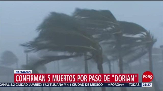Foto: Huracán Dorian Cinco Muertos Bahamas 2 Septiembre 2019