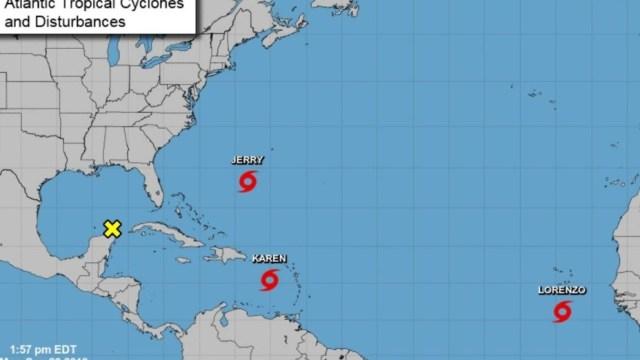 Foto: Tormenta tropical Lorenzo, 28 de septiembre de 2019 (www.nhc.noaa.gov/?atlc)
