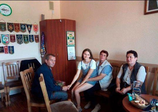 Foto:Yulia y su familia. 4 septiembre 2019