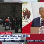 FOTO: Ignacio Marván Laborde habla sobre la forma en la que AMLO informa a la población, 1 septiembre 2019