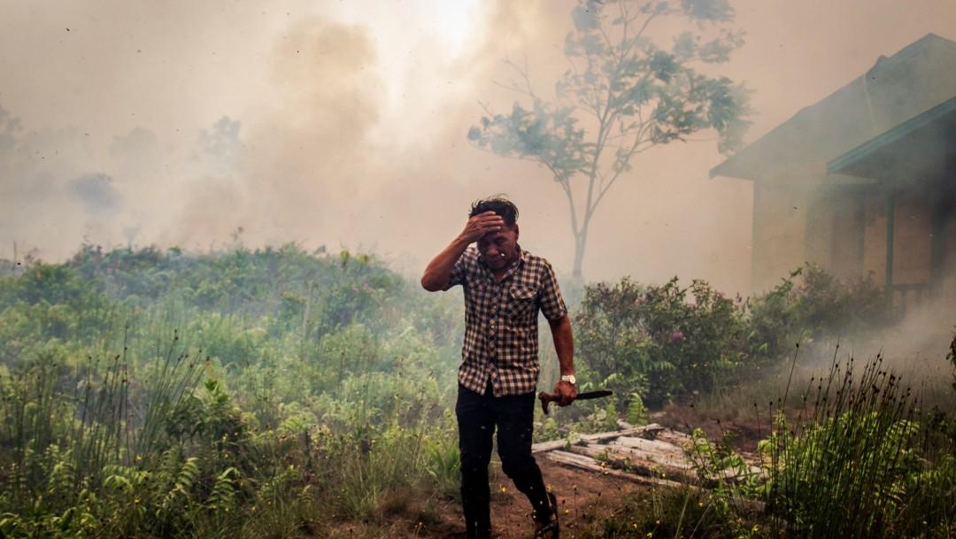 Foto: Incendios forestales en Indonesia, 22 de febrero de 2019