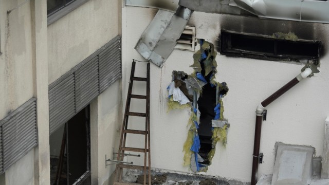 Foto: Incendio en hospital de Río de Janeiro, 13 de septiembre de 2019, Brasil