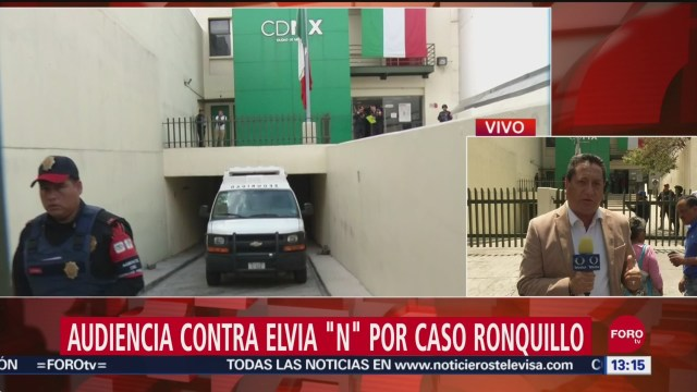 """FOTO: Inicia audiencia de vinculación a proceso contra Elvia """"N"""" por caso Ronquillo, 27 septiembre 2019"""