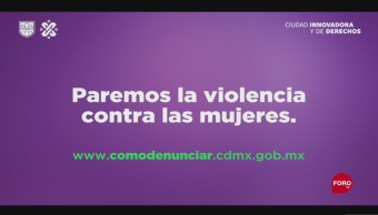 FOTO: Inicia Campaña Paremos Violencia Contra Mujeres CDMX
