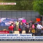 Foto: Integrantes Cnte Bloquean Oficinas Sep Avenida Universidad 24 Septiembre 2019