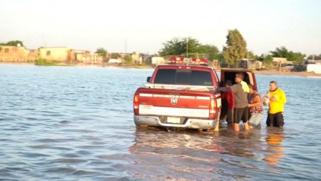 Afectación por lluvias en Sonora.