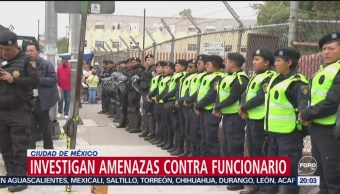 Foto: Investigan Amenazas Director Penitenciario Cdmx 12 Septiembre 2019