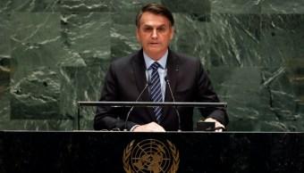 Foto: Jair Bolsonaro en la Asamblea de la ONU, 24 de septiembre de 2019