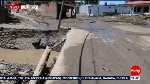 Jalisco atiende daños por nuevo desbordamiento del río Salsipuedes