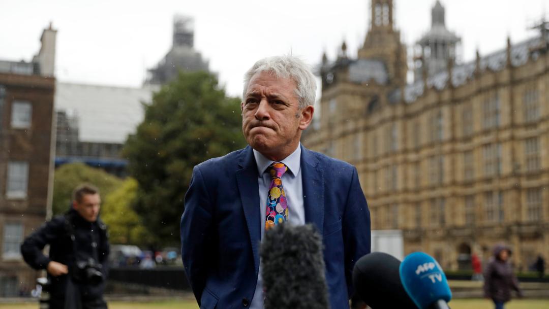 foto John Bercow anuncia que el Parlamento británico reinicia sesiones el 25 de septiembre (AP)