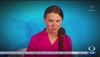 La activista Greta Thunberg exige acciones contra el cambio climático